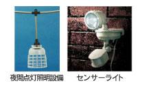 夜間点灯照明設備・センサーライトの設置