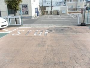 愛知トヨタ 出入り口アスファルト陥没修理工事