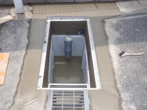 A整備工場油水分離層設置