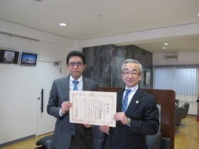 杉本高男社長と税務署長